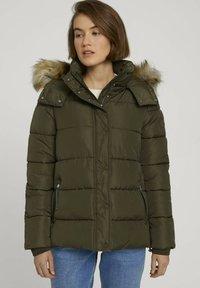 TOM TAILOR DENIM - Winter jacket - deep olive green - 0