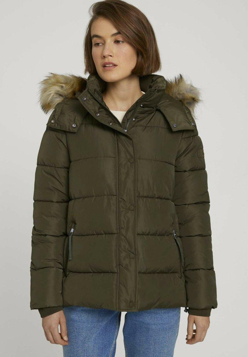 TOM TAILOR DENIM - Winter jacket - deep olive green