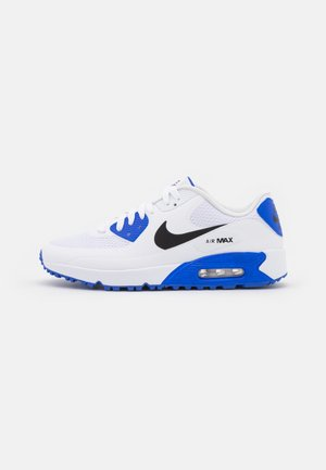 AIR MAX 90 G - Golf shoes - white/black/racer blue/pure platinum
