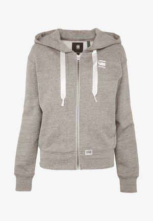 BIKER HOODED - Zip-up hoodie - avalanche heather