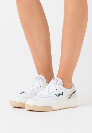 Trainers - white/dark green
