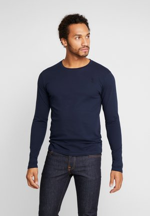 PLAIN CREW NECK TEE - Long sleeved top - french navy