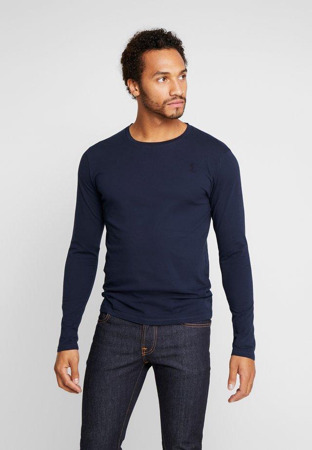 PLAIN CREW NECK TEE - Maglietta a manica lunga - french navy