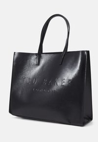 Ted Baker - AEVACON CRINKLE PATENT EMBOSSED XHATCH ICON - Tote bag - black - 3