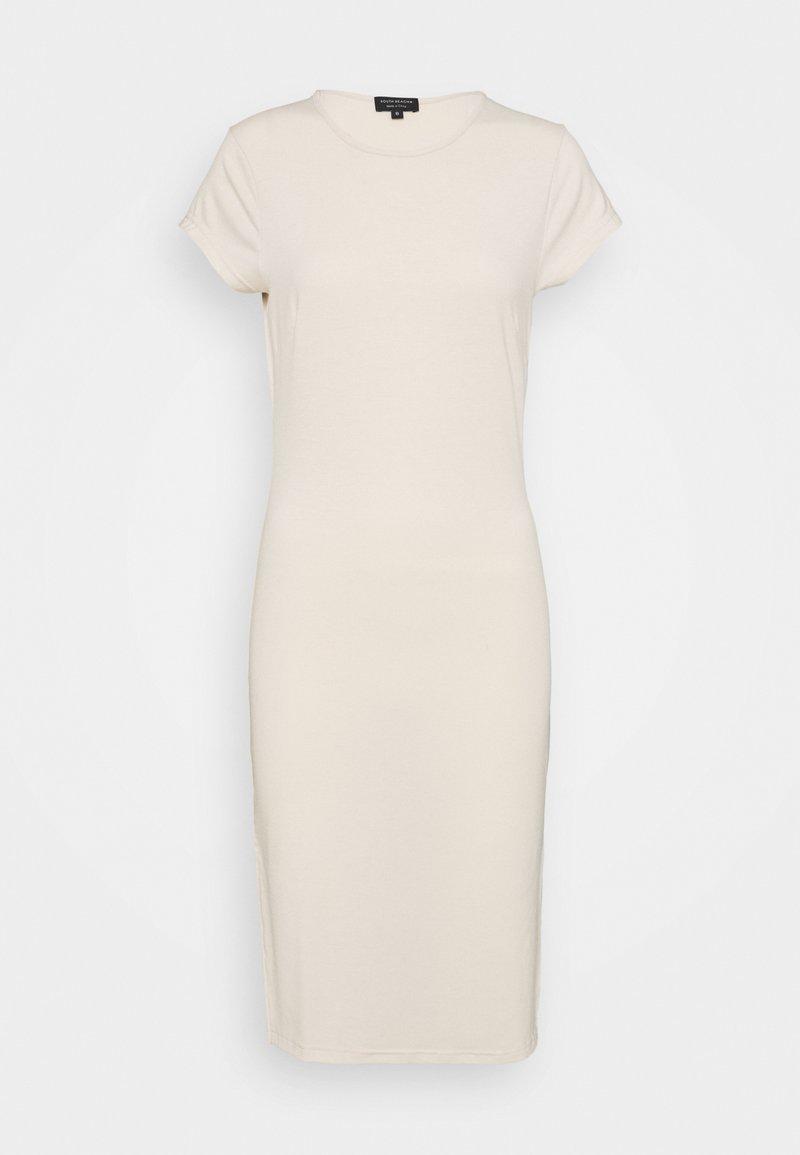 South Beach Petite - SPLIT SIDE MIDI DRESS - Jersey dress - stone