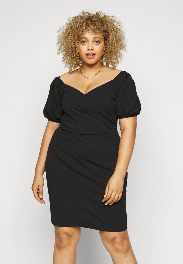 VMJASMINE WRAP SHORT DRESS - Kjole - black