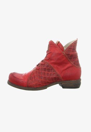Cowboy/biker ankle boot - vino