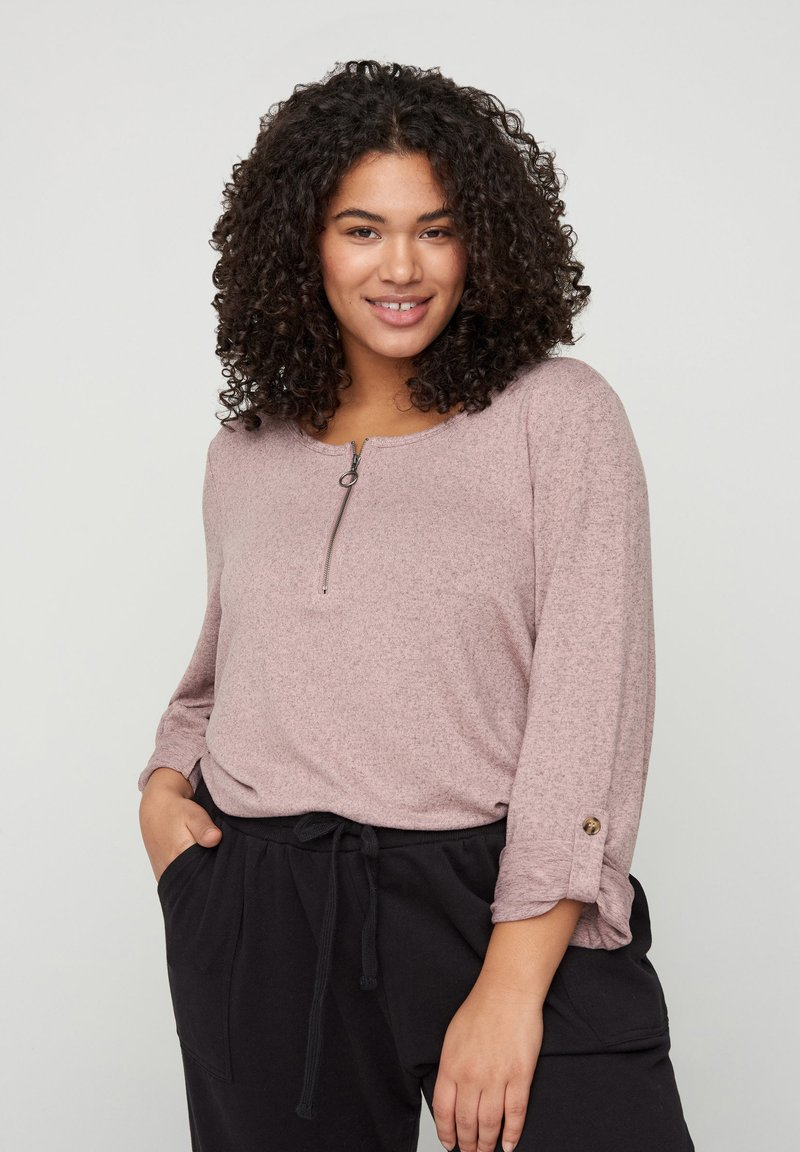 Zizzi - Long sleeved top - rose