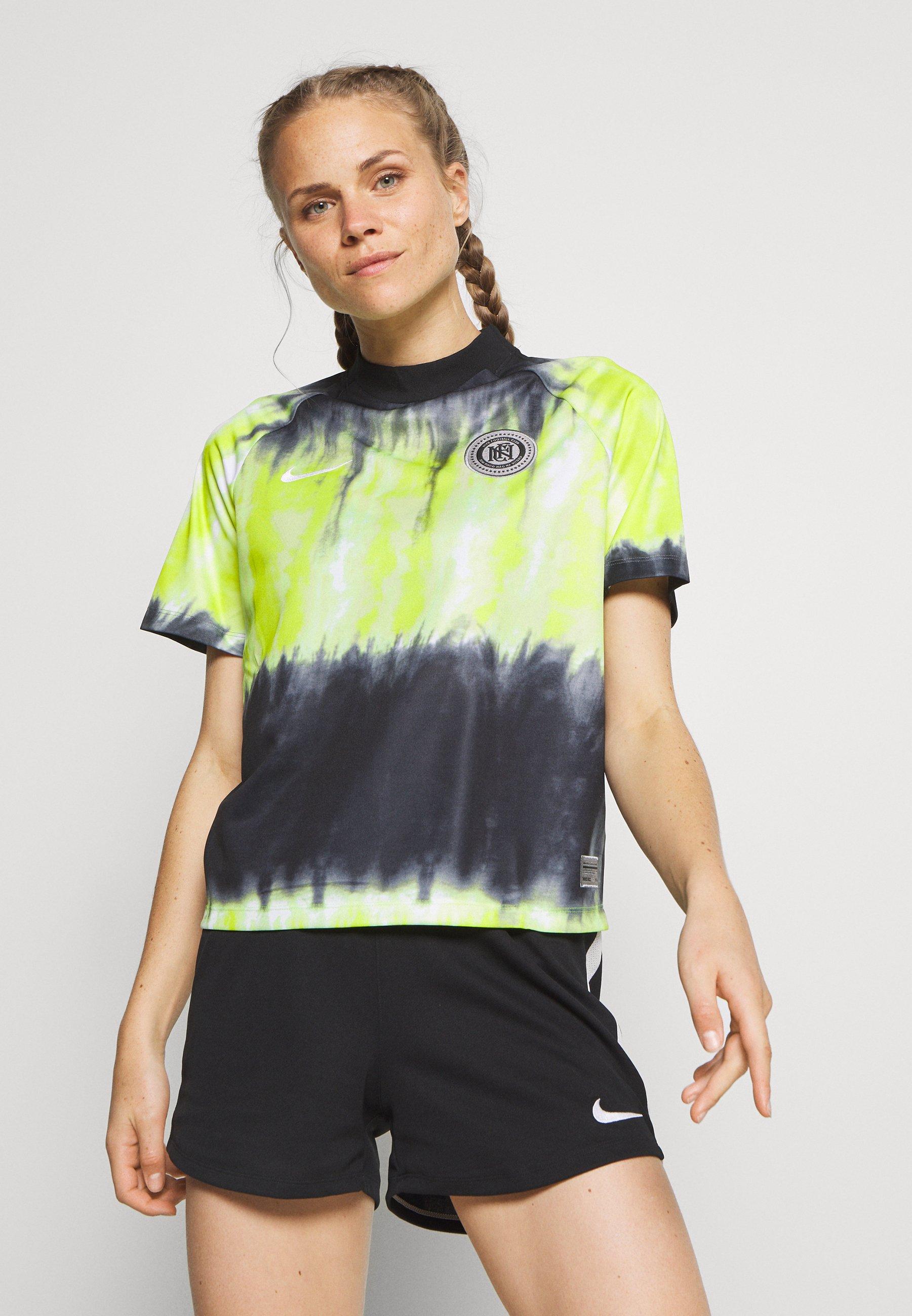 Comprar Ropa de mujer Nike Performance FC Camiseta estampada black/volt/white W7JZjZ