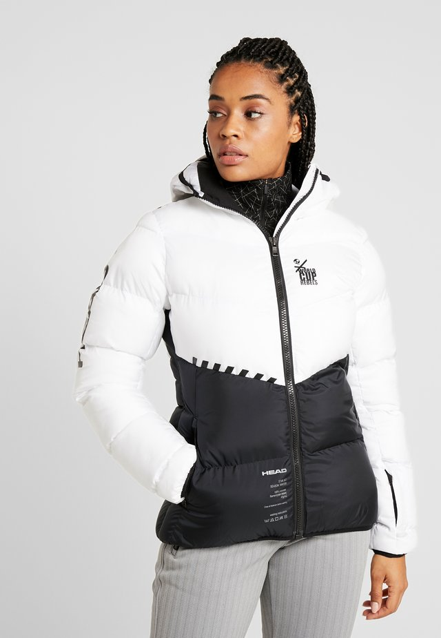 REBELS STAR JACKET - Kurtka narciarska - white/black