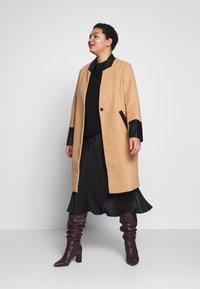 River Island Plus - Classic coat - camel - 1