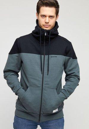NESTON - Zip-up sweatshirt - black/bottle