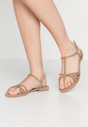 ELLE  - T-bar sandals - leone