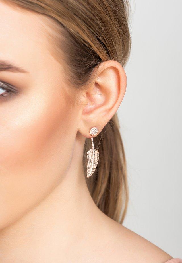 Boucles d'oreilles - or rosé