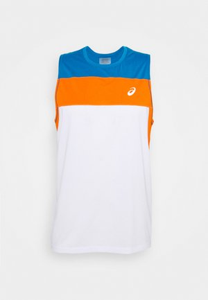RACE SINGLET - Camiseta de deporte - brilliant white/reborn blue