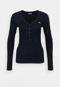 Abercrombie & Fitch - ICON HENLEY - Bluzka z długim rękawem - navy - 0