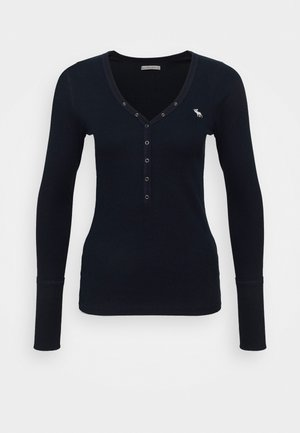 ICON HENLEY - Long sleeved top - navy