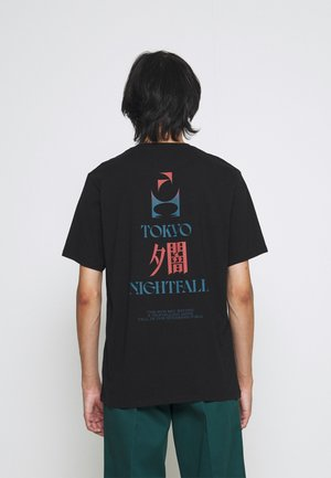 TOKYO NIGHTFALL UNISEX - Print T-shirt - black