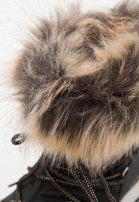Moon Boot - JR GIRL MONACO LOW WP - Winter boots - black/copper - 5