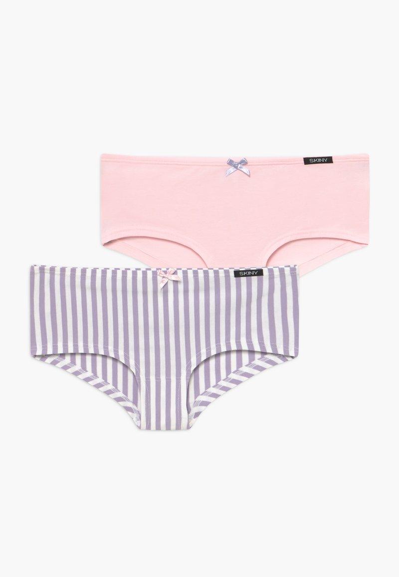 Skiny - GIRLS 2 PACK - Kalhotky - purple/white