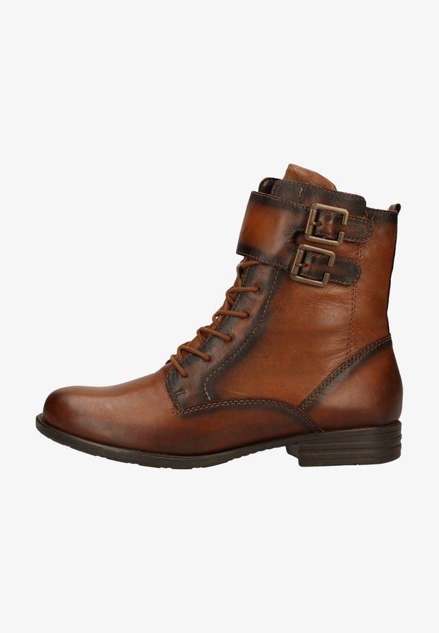 Cowboy/biker ankle boot - chestnut/chestnut