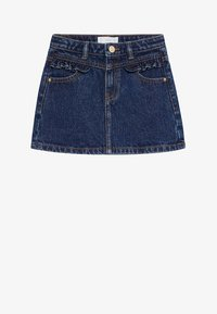 Mango - FRILL - Denim skirt - donkerblauw - 0