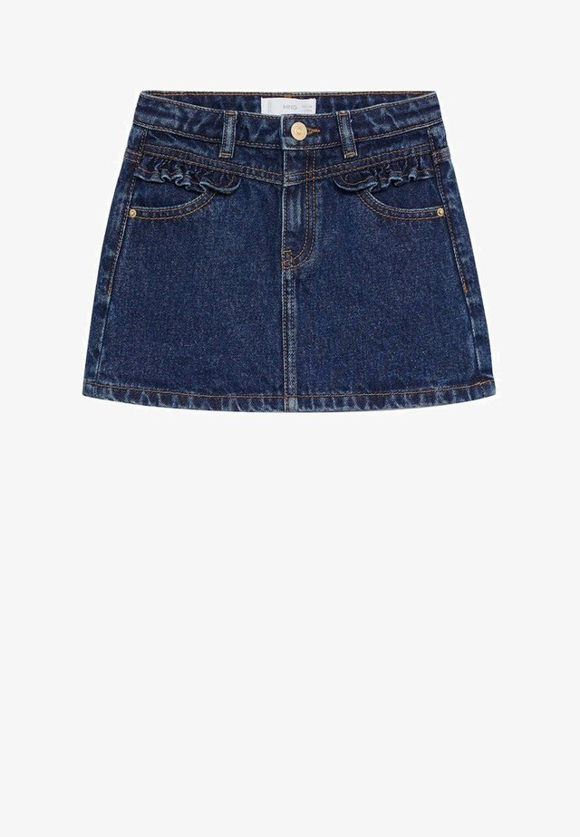 FRILL - Gonna di jeans - donkerblauw