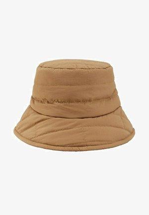 GEWATTEERDE BUCKET HAT - Hoed - middenbruin