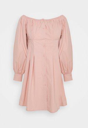 BARDOT PLEATED WAIST DRESS - Day dress - blush