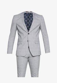 Limehaus - WINDOWPANE SUIT - Suit - grey - 9