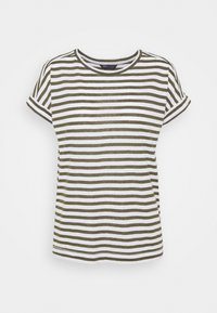 Marks & Spencer London - STRIPE - Print T-shirt - khaki - 0