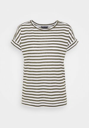 STRIPE - T-shirts med print - khaki