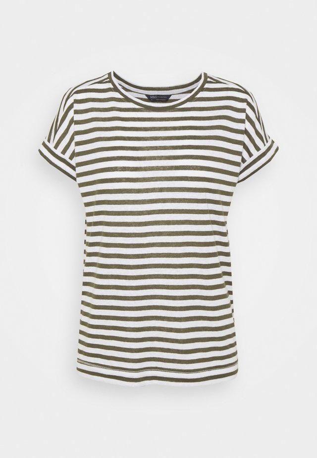 STRIPE - Camiseta estampada - khaki