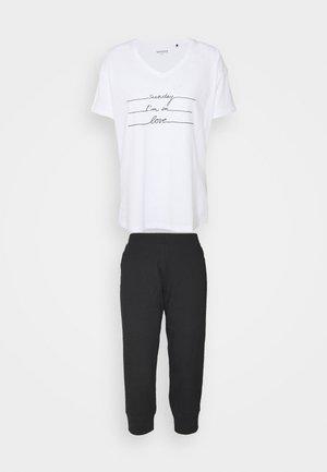 LANGER SCHLAFANZUG KLASSIK - Pyjama set - black/white