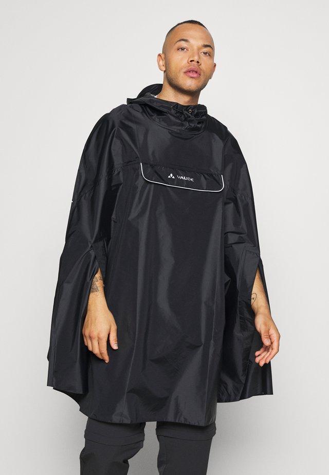 VALDIPINO PONCHO - Regenjacke / wasserabweisende Jacke - black