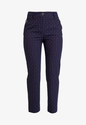 BUTTON DETAILED TROUSERS - Stoffhose - navy