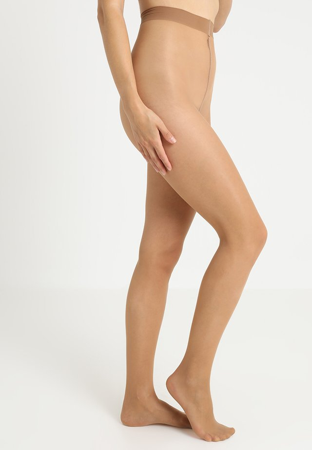 FALKE SEIDENGLATT 15 DENIER STRUMPFHOSE TRANSPARENT GLÄNZEND - Tights - powder