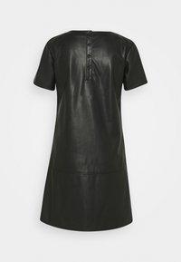 TOM TAILOR DENIM - MINI DRESS - Sukienka letnia - deep black - 1