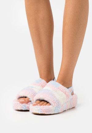 FLUFF YEAH SLIDE CALI COLLAGE - Slippers - light pink