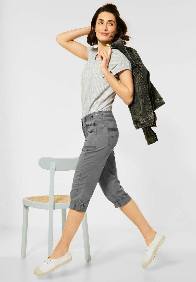 Cecil - Denim shorts - grau