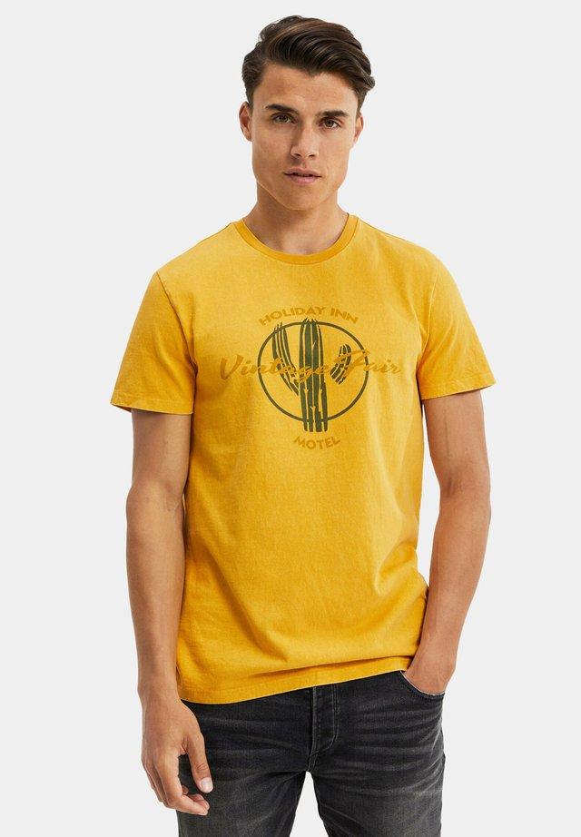 T-shirt imprimé - ochre yellow