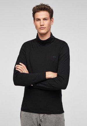 LANGARMSHIRT MIT TURTLENECK - Long sleeved top - black