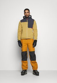 The North Face - UP & OVER PANT TIMBER - Snow pants - tan/black - 1