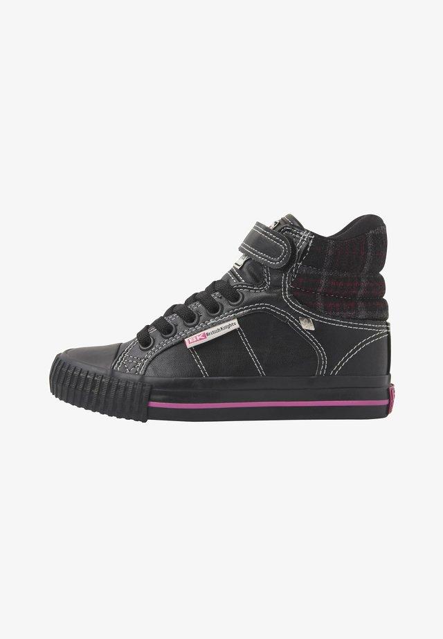 ATOLL - Baskets basses - black/fuchsia checker/black