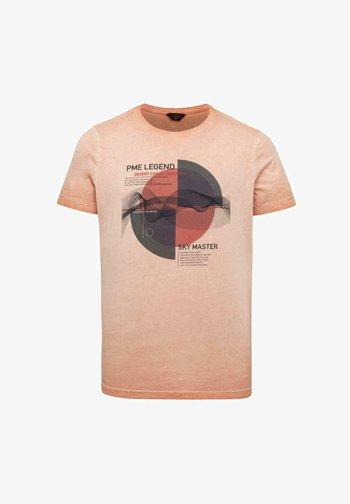 SINGLE - Print T-shirt - orange