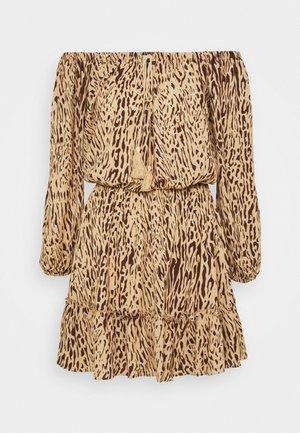 BARDOT TASSEL DRESS ZEBRA PRINT - Day dress - multi
