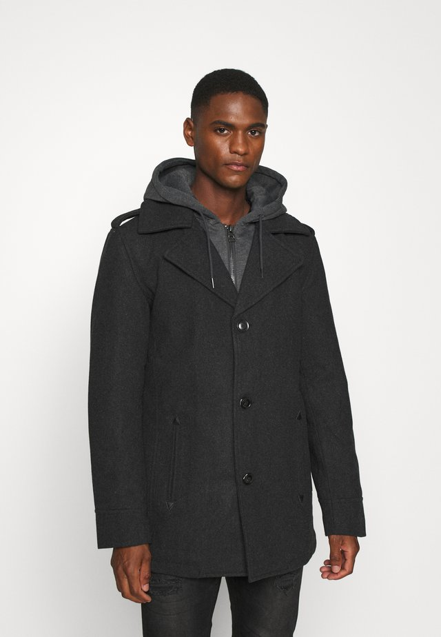 ADAIR - Short coat - charcoal mix