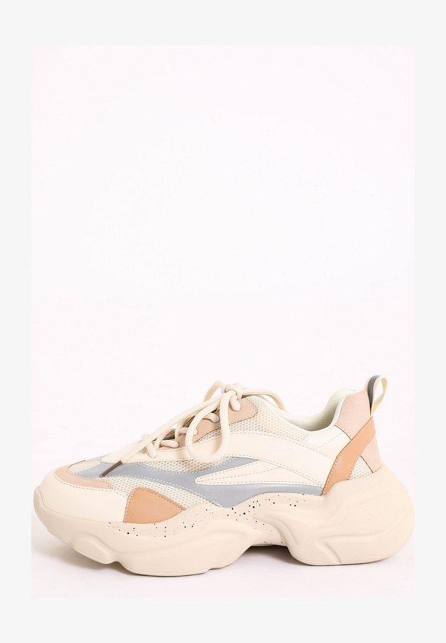 BUNTE - Sneakers laag - weiß