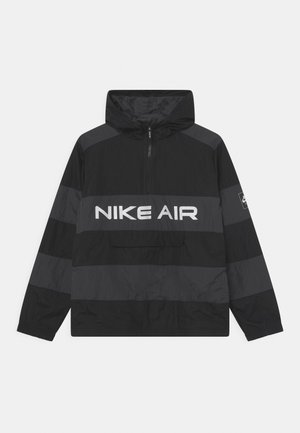 AIR UNLINED ANORAK - Chaqueta de entretiempo - black/dark smoke grey
