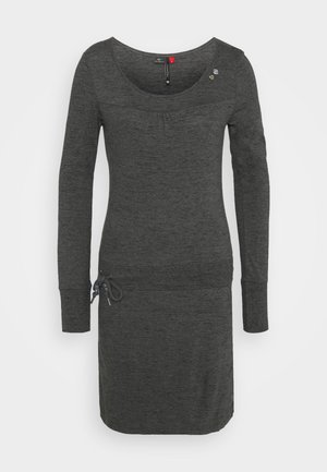 PENELOPE - Jersey dress - mottled dark grey